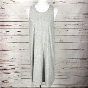 West Loop Grey Midi Large Women's Dress
